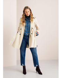Violeta by Mango - Classic Belted Trench - Lyst