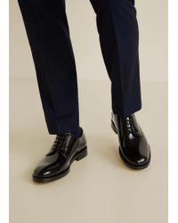 Mango - Leather Blucher Shoes - Lyst