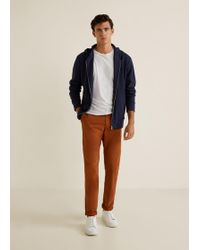 Mango - Five Pocket Chino Trousers - Lyst