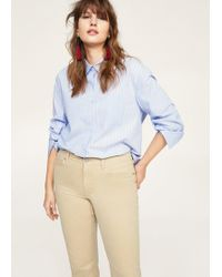 Violeta by Mango - Straight-fit Cotton Pants - Lyst