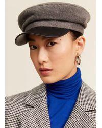 Mango - Baker Boy Hat - Lyst