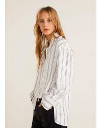 Mango - Oversize Striped Shirt - Lyst