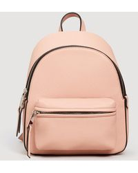 Mango - Pebbled Backpack - Lyst