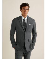 Mango - Regular-fit Textured Suit Blazer - Lyst