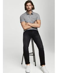 Mango - Slim-fit Black Tim Jeans - Lyst