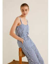 Mango - Buttons Striped Top - Lyst