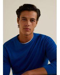 Mango - Contrast Cashmere-blend Sweater - Lyst