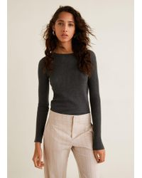 Mango - Ribbed Fine-knit Sweater - Lyst