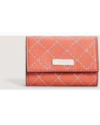Mango - Contrast Seam Wallet - Lyst