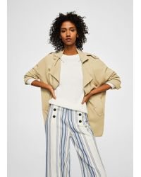 Mango - Flowy Lapelled Jacket - Lyst