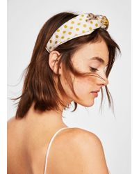 Mango - Polka-dot Combined Hairband - Lyst