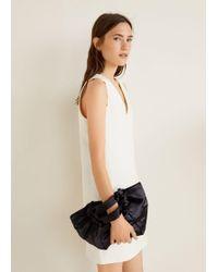 Mango - Textured Cotton-blend Dress - Lyst