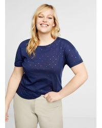 906ae7bb1fb Lyst - Violeta by Mango Combined Printed T-shirt