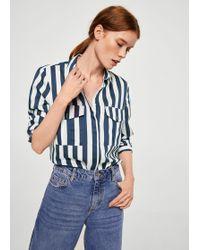 Mango   Striped Soft Shirt   Lyst