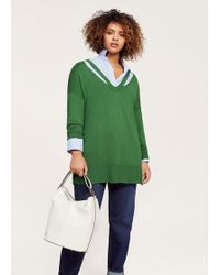 Violeta by Mango - Neck Cut-out Sweater - Lyst