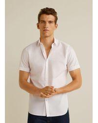 Mango - Slim-fit Dotted Shirt - Lyst