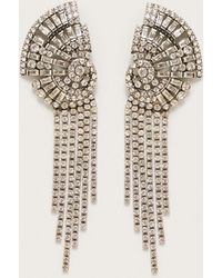 Violeta by Mango - Faceted Stone Earrings - Lyst