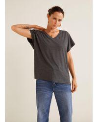 Mango - V-neck T-shirt - Lyst