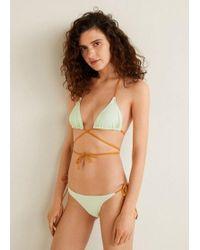 3a01d8d0b040e TOPSHOP Apple Green Basic V Bandeau Bikini Top in Green - Lyst