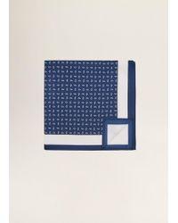 Mango - Paisley-print Silk Square Pocket - Lyst