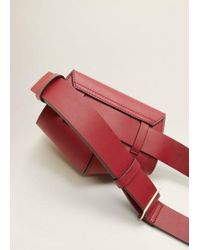 Mango - Flap Belt Bag Red - Lyst