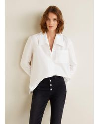 Mango - Oversize Organic Cotton Shirt - Lyst