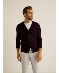 Mango - Chunky-knit Wool-blend Cardigan - Lyst