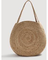 Mango - Jute Shopper Bag - Lyst