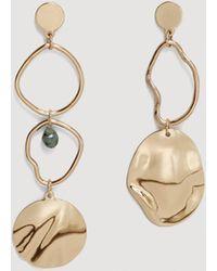 Mango - Metallic Hoop Earrings - Lyst