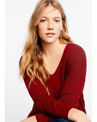 Violeta by Mango - Asymmetric Hem Sweater - Lyst