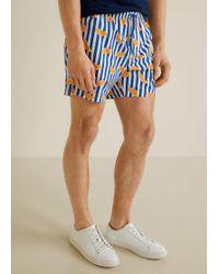Mango - Contrasting Print Swimsuit - Lyst