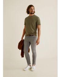 Mango - Skinny Grey Jude Jeans - Lyst