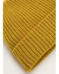 Mango - Ribbed Knit Beanie - Lyst