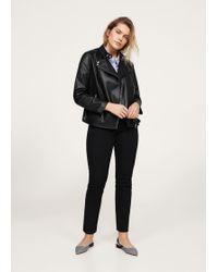 Violeta by Mango | Zipped Biker Jacket | Lyst