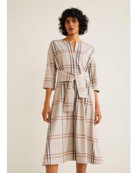 Mango - Knotted Dress - Lyst