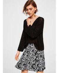 Mango - Printed Button Skirt - Lyst