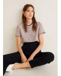 Mango - Flecked Cotton Shirt - Lyst