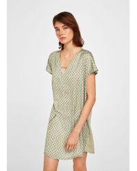 Mango - Contrasting Design Dress - Lyst