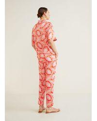 Mango - Paisley Print Trousers - Lyst