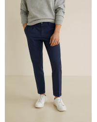 Mango - Regular-fit Pleated Trousers - Lyst
