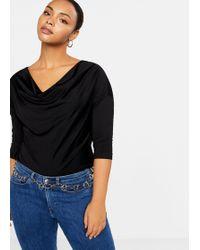 Violeta by Mango - Cowl Neck T-shirt - Lyst