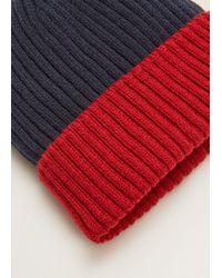 Mango - Bicolor Knit Beanie - Lyst
