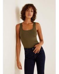 Mango - Stretch Essential Top - Lyst