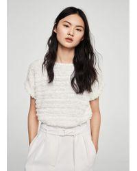 Mango   Fringe Cotton T-shirt   Lyst