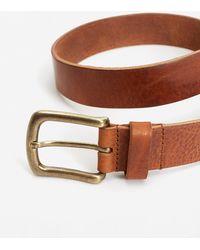 Mango | Pebbled Leather Belt | Lyst