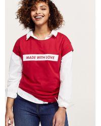 Violeta by Mango - Message Cotton T-shirt - Lyst
