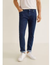 Mango - Slim-fit Dark Wash Patrick Jeans - Lyst