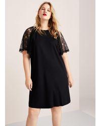 Violeta by Mango - Combined Lace Dress - Lyst
