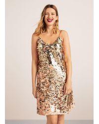 Violeta by Mango - Reversible Sequins Dress - Lyst