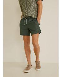 Mango - Cord Plain Swimsuit - Lyst